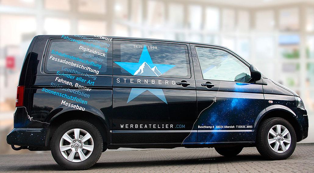 Busbeklebung von Dieter Sternberg